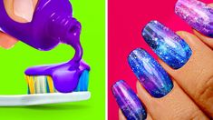 CREATIVE IDEAS FOR LAZY GIRLS If you dream about a good manicure but you don't want to spend a lot of money at a salon, you can easily make it at home. Nail Art Hacks, Nail Art Diy, Easy Nail Art, Cool Nail Art, Diy Nails, Cute Nails, Pretty Nails, Nail Art At Home, Nail Art Designs Videos
