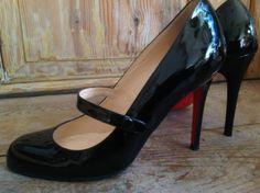 Christian Louboutin Mary Jane Wallis Pumps from Paris Stiletto Heels, High Heels, Black Christian Louboutin, Foot Pads, Wallis, Platform Pumps, Mary Janes, Kitten Heels, Clothes For Women