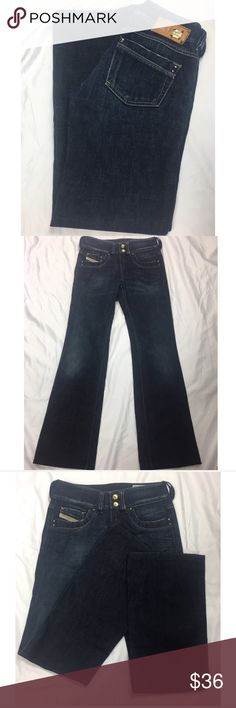 Diesel Stretch Jeans Size 24 Diesel Ronhar stretch jeans. Excellent condition. Size 24. Inseam approximately 30 inches. Rise approximately 8 inches. Diesel Jeans Boot Cut