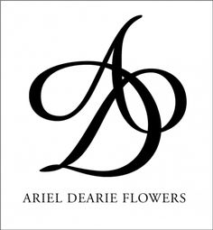 ariel dearie flowers monogram logo, it would make a cute tattoo with my 3 kids' first initial