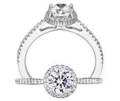 Bella Vita diamond engagement ring | Ritani Collection | Rogers Jewelry Co.
