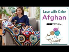 How to Crochet An Afghan: In Love with Colour Afghan - YouTube