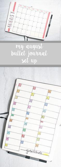 My August Bullet Journal Set Up