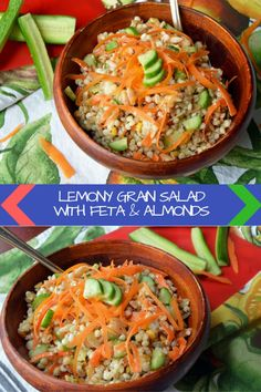 The perfect grain salad to bring to any backyard BBQ this summer. Full of whole grains and protein!