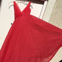 Vintage Munsingwear Red Nightgown 34 Nylon Tricot (chiffon) Made In USA  | eBay