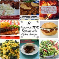8 delicious BBQ recipes using #HeinzVinegar- #sponsored