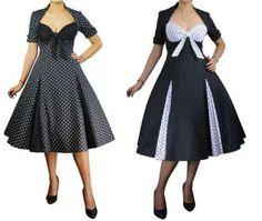 50s ROCKABILLY PINUP POLKA DOT SWING DRESS