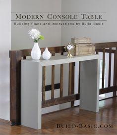 Comment fabriquer une table console? | BricoBistro