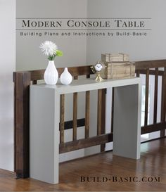 Build a Modern Console Table