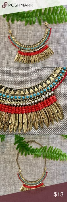 Bead & Woven Necklace Like new. Jewelry Necklaces
