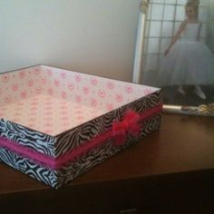 My first recycled box using duct tape!