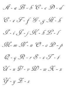 Aprendiendo Idioma Español: Abecedario en letra cursiva Más Calligraphy Fonts Alphabet, Hand Lettering Alphabet, How To Write Calligraphy, Calligraphy Handwriting, Penmanship, Cursive Letters, Graffiti Lettering, Lettering Styles, Lettering Tutorial