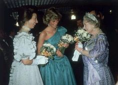Diana, Princess Anne and The Queen Mother