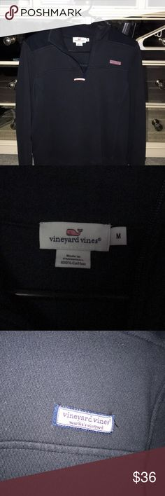 Vineyard vines shep shirt Navy blue women's Vineyard vines shep shirt. Bought from the vineyard vines website. Can fit a small-medium. But I️t is in the size medium. Very nice and comfortable. Bought for $100 originally. Vineyard Vines Tops Sweatshirts & Hoodies
