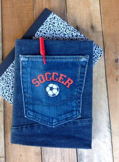 Jean Covered Journal  Sports Collection by CreativeSewingSue