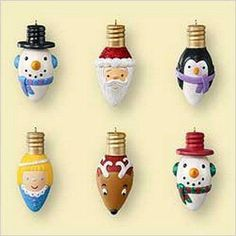 Recycle old light bulbs by turning them into christmas tree ornaments #DIY #christmas #craft