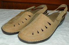 I Love Comfort Beige Leather Sandals Slingbacks Womens Size 6M Aleisha #ILoveComfort #Slingbacks