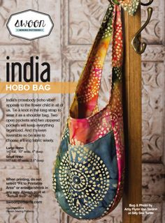 Swoon India Hobo Bag | YouCanMakeThis.com - pattern not free
