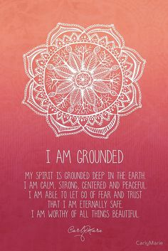 Hypnotherapy MP3 downloads 100% Satisfaction Guaranteed I Am Grounded - Root Chakra by CarlyMarie
