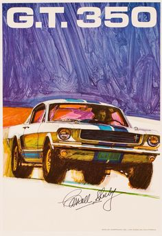 Affiche Shelby GT 350 Signée par Carroll Shelby c.1968 - Heritage Auctions.