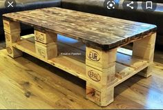 Outdoor Coffee Tables, Diy Coffee Table, Coffee Table Design, Diy Table, Euro Pallets, Recycled Pallets, Wooden Pallets, Pallet Wood, Diy Wood