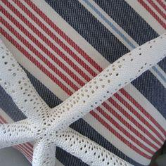Nautical R Lauren Decorator Fabric Stripes by beachsidestyle, $85.00