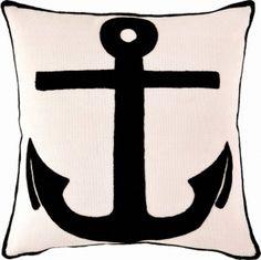 Fresh American Admiral Ivory & Black Indoor / Outdoor Pillow