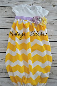 Baby Layette Chevron Gown - Coming Home Outfit - Sleep Sack - baby layette gown -Infant Gown - Photo Prop - baby shower on Etsy, $25.00