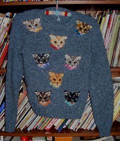 Hairdo Wedding, Cat Sweaters, Knitting Needles, Ravelry, Knit Crochet, Knitting Patterns, Jumper, Kitten, Comfy