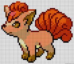 Vulpix - Pokemon perler bead pattern