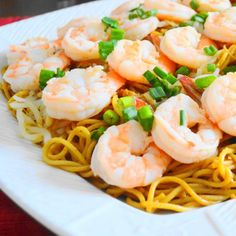 Tender Chengdu style Asian noodles become an amazing main course with the addition of succulent coconut lime shrimp! Simple and quick too.