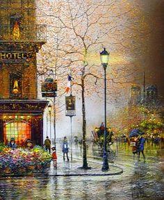 NOTRE DAME, PARIS ~ Guy Dessapt ~ L'automne avance. Les bourrasques et la pluie ont raison des dernières feuilles qui s'acharnent à nous créer un décor d'or avant la...