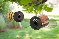 Tin can bees! so cute and fun to make for kids with parents