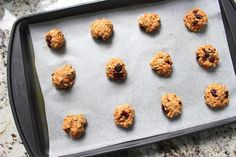 Low FODMAP Healthy Carrot Cookies - Lauren Renlund MPH RD Banana Oat Cookies, Carrot Cookies, Banana Oats, Healthy Cookies, Healthy Snacks, Most Popular Recipes, New Recipes, Snack Recipes, Fodmap Diet Plan