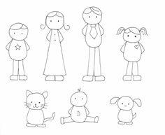 család rajz, drawing a family, coloring page, színező