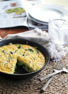 Lazy Sunday Broccoli Frittata by Girl Cooks World. (Curated by BlogHer for Leftover Makeovers sponsored by BankAmericard Cash Rewards™ credit card)