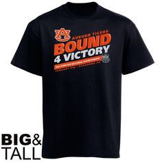 Auburn Tigers 2014 BCS National Championship Bound 4 Victory Big & Tall T-Shirt - Navy Blue - $12.99