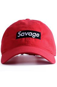 d8a4a0a7fe0 Nerdy Fresh Savage Basball cap Red Black Mens Beanie Hats
