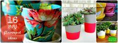 16 DIY Flower Pot projects