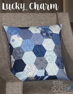 I've got a fun new pillow pattern to share with you today!!! Pillow Details  Fabric is True Blue by Zen Chic for Moda Pat...