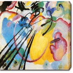YGC Wassily Kandinsky 'Improvisation' Oil on Art