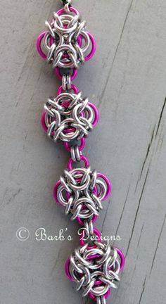 Chainmaille Knot Bracelet Pink For Breast Cancer Awareness