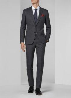 Costume gris anthracite - Prince de galles fondu 16EC3MILY-F509/21 - Costume slim homme