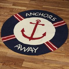 79.75- Anchors Away Round Rug   how cute is this?