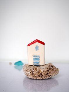 Little clay houses Summer Ceramic Beach by VitezArtGlassDesign