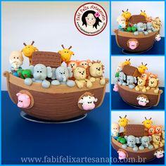 Fabi Felix Artesanato: Topo de bolo arca de Noé