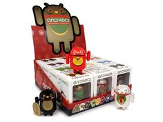 Android Lucky Cat figurines!