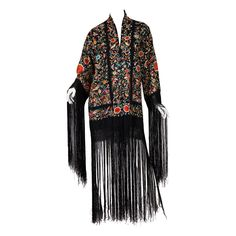 1920s Embroidered Piano Shawl Kimono   From a collection of rare vintage coats and outerwear at https://www.1stdibs.com/fashion/clothing/coats-outerwear/
