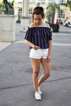 blogger fashion blog mode blogueuse short jean ootd summer look outfit