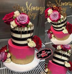 Cupcakes Decoration Girly Color Schemes 56 New Ideas Pretty Cakes, Cute Cakes, Beautiful Cakes, Amazing Cakes, Elegant Birthday Cakes, Sweet 16 Birthday, 40th Birthday, Birthday Ideas, Bolo Floral